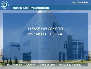 please welcome to ppf hasco – lek sa - Soft Gelatin Capsule ...