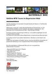Bayerwald MTB Camp - Bayerischer-Wald