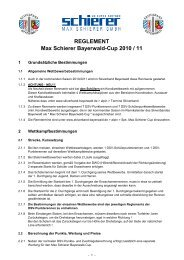 REGLEMENT Max Schierer Bayerwald-Cup 2010 / 11 - Skiverband ...