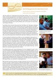 Der Erfolg gab den Gründervätern recht - Gemeinde Lohberg