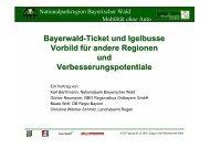 Bayerwald-Ticket und Igelbusse Vorbild für andere Regionen ... - Eltis