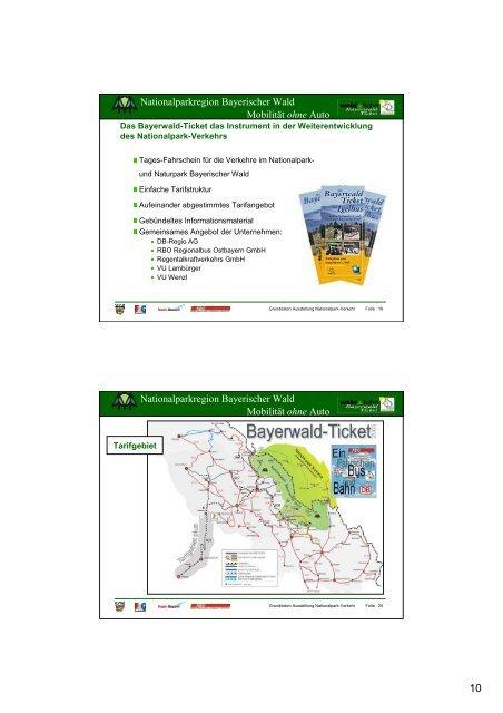 10 Jahre Igelbus - Verkehrsentwicklung im ... - Bayerwald Ticket