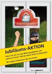 Jubiläums-Aktion, der Flyer - Bayerwald Fenster & Haustüren