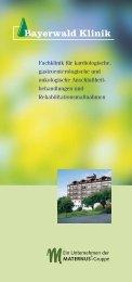 Unser Hausprospekt als PDF zum Download - Bayerwald-Klinik Cham