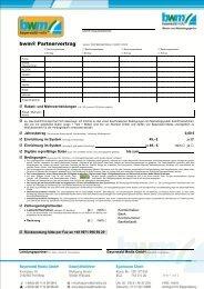 Partnervertrag für die bwm ® Cardsystem downloaden