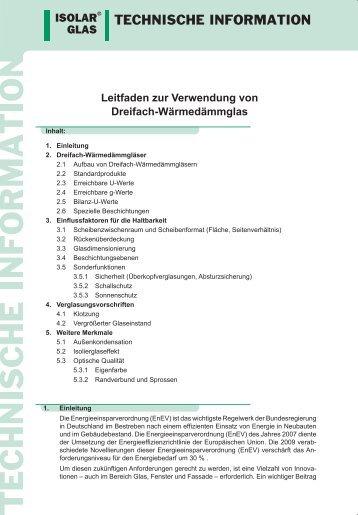 Leitfaden zur Verwendung von Dreifach-Wärmedämmglas - ISOLAR ...