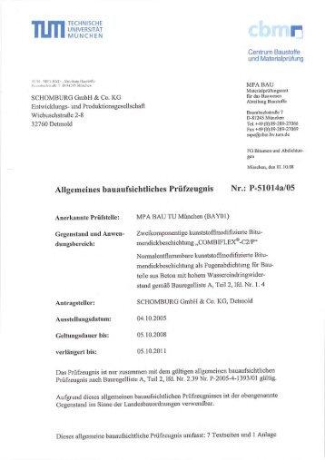 AbP COMBIFLEX-C2/P für normalentflammbare ... - Schomburg