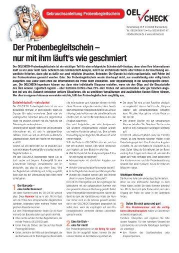 probenbegleitschein magazine. Black Bedroom Furniture Sets. Home Design Ideas