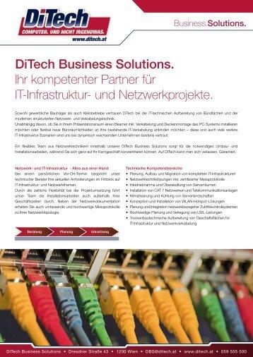 DiTech Business Solutions. Ihr kompetenter Partner für IT-Infrastruktur