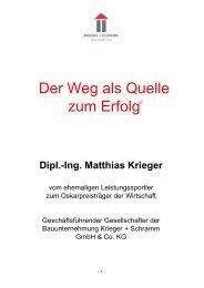 Der Weg als Quelle zum Erfolg - Adolf Zeller GmbH & Co. Poroton ...