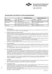Anweisungen zum Schutz von Versorgungsanlagen - Stadtwerke ...