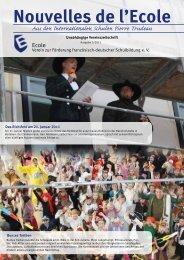 Nouvelles de l'Ecole - Ecole Stiftung