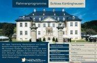 Schloss Körtlinghausen Rahmenprogramme