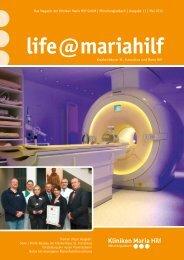 Krankenhäuser St. Franziskus und Maria Hilf Das Magazin der ...