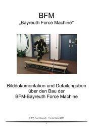 """""""Bayreuth Force Machine"""" Bilddokumentation und Detailangaben ..."""