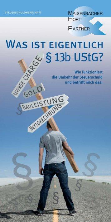 Was ist eigentlich § 13 UStG? - Beraternetz Karlsruhe
