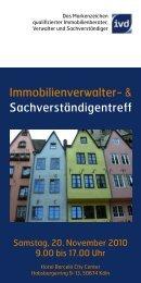 Einladung Immobilienverwaltertreff 2010