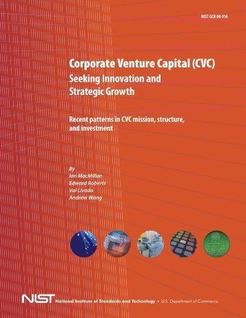Corporate Venture Capital (CVC) - NIST Advanced Technology ...