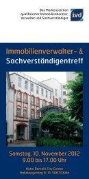 Immobilienverwaltertreff IVD West - Berndt Medien
