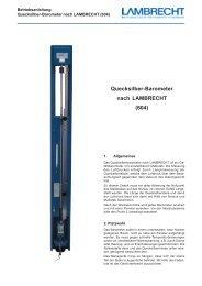 Quecksilber-Barometer nach LAMBRECHT (604)