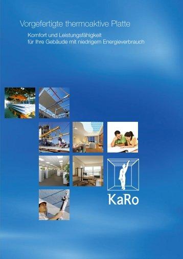 Vorgefertigte thermoaktive Platte - Karo systems