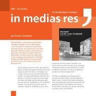 2007 – die Sechste das Thema: Architektur die MedienRegion ...