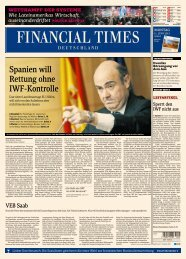 Nicht nur in Amerika - Financial Times Deutschland