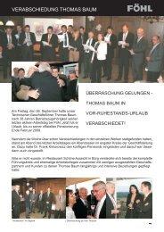 Verabschiedung Thomas Baum - Föhl