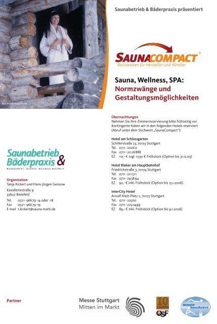 Sauna, Wellness, SPA: Normzwänge und Gestaltungsmöglichkeiten