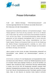 Presse-Information - F-Cell