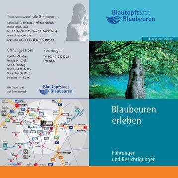 """Broschüre """"Blaubeuren erleben"""""""