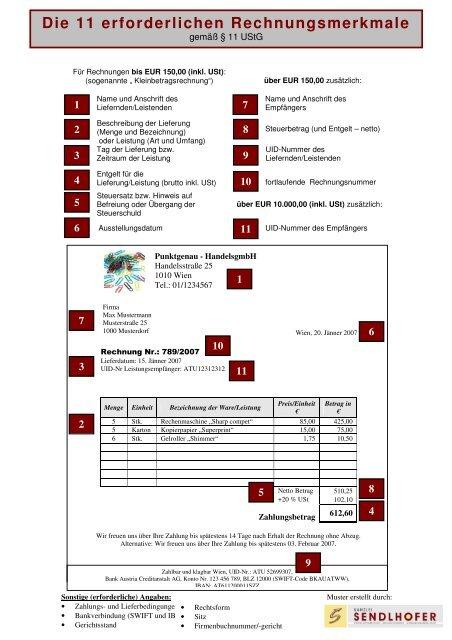 56cbd81e4743cd Musterrechnung - die 11 erforderlichen Rechnungsmerkmale