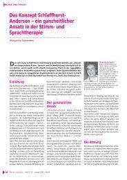 Das Konzept Schlaffhorst- Andersen – ein ganzheitlicher Ansatz in ...