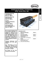 Anleitung für Einbau und Wartung GRAF Sicker-Bloc 300