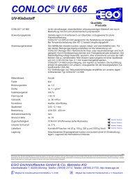 CONLOC® UV 665 - EGO