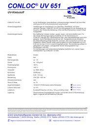 CONLOC® UV 651 - EGO
