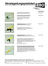 Versiegelungspistolen - EGO - Dichtstoffwerke