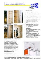 Fensteranschluß mit EGOFERM/Vlies - EGO - Dichtstoffwerke