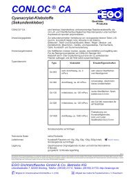 CONLOC® CA Cyanacrylat-Klebstoffe - EGO - Dichtstoffwerke