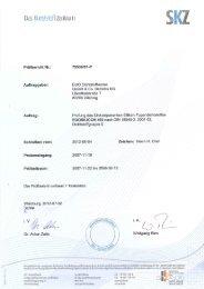 Zert. DIN 18545-2 E - EGO - Dichtstoffwerke