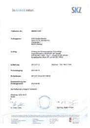 Zert. DIN EN ISO 11600 F 25 LM - EGO - Dichtstoffwerke