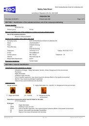 safety data sheet 790 - EGO - Dichtstoffwerke