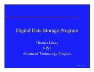 Digital Data Storage Program - THIC