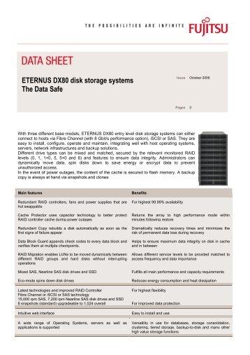 ETERNUS DX80 Datasheet (APAC) - Fujitsu