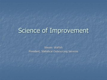 Management review - Statistical Outsourcing Services