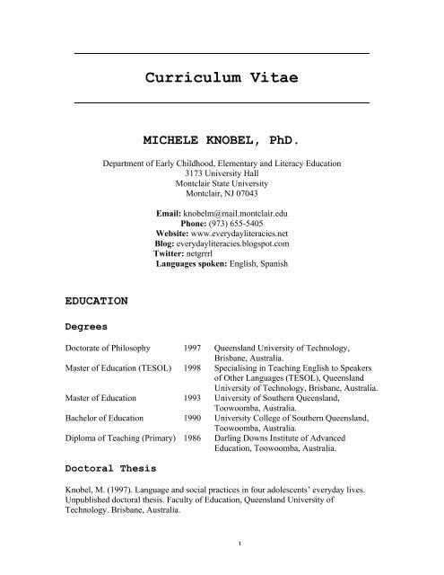 martin knobel dissertation