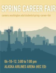 Spring Career Fair 2012 - The Career Center of the University of ...