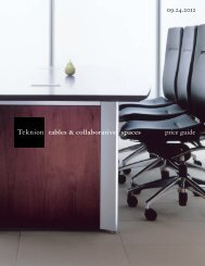 Tables & Collaborative Spaces Price Guide - Teknion