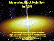 Measuring Black Hole Spin in AGN - University of Michigan