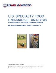 U.S. SPECIALTY FOOD END-MARKET ANALYSIS - USAID Compete